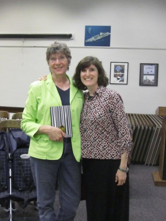 With Nancy Newman, the wonderful librarian who brought me to Gettysburg